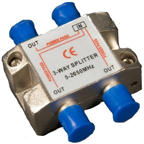 Morris Products 45044 3 Way Splitters with Ground Block Satellite 5-2050Mhz