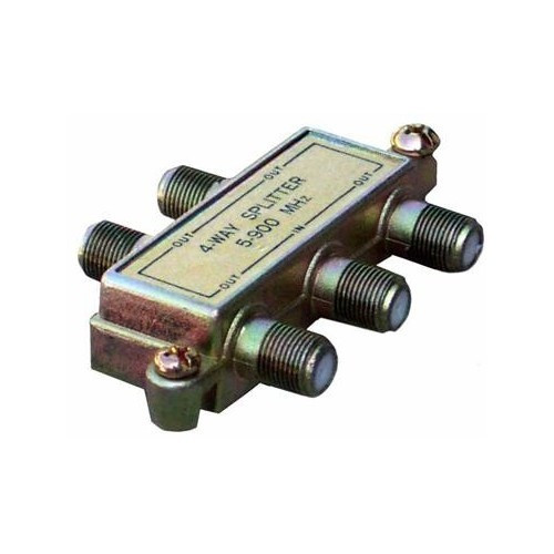 Morris Products 45052 4 Way Splitters with Ground Block Digital 5-1000 Mhz