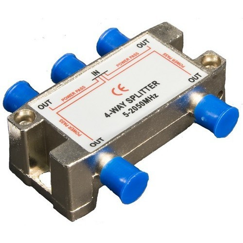 Morris Products 45054 4 Way Splitters with Ground Block Satellite 5-2050Mhz