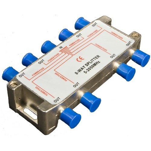 Morris Products 45059 8 Way Splitters with Ground Block 5-2050Mhz