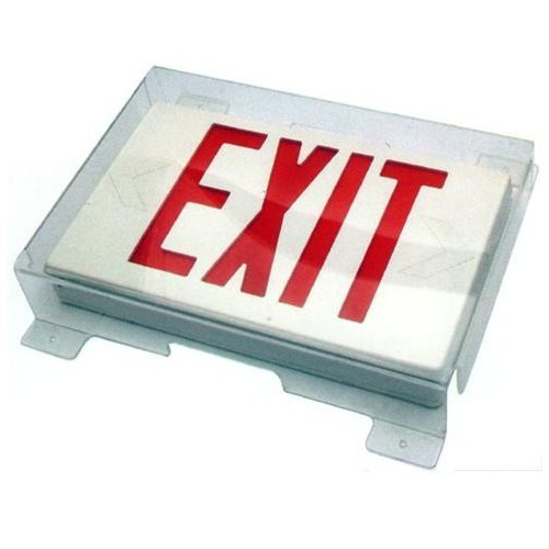 Morris Products 73090 Polycarbonate Vandal/Environmental Shield Guard for Exit Signs