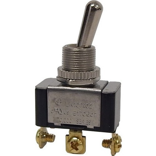 Morris Products 70090 Heavy Duty 1 Pole Toggle Switch SPDT On-On Screw Terminals