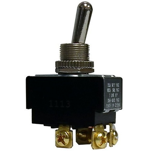Morris Products 70290 Heavy Duty Momentary Contact Toggle Switch DPDT (On)-Off-On Screw Terminals
