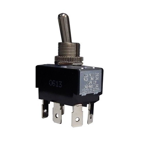 Morris Products 70299 Heavy Duty Momentary Contact Toggle Switch DPDT (On)-Off-(On) Quick Connect Spade Terminals
