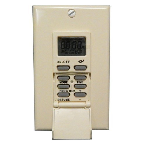 Morris Products 80515 7 Day In-Wall Digital Self-Adjusting Timer - SunTracker Ivory