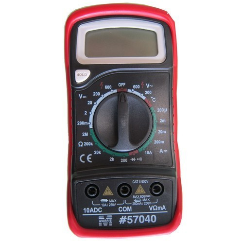 Morris Products 57040 Digital Multimeter & Temperature Probe with Rubber Holster
