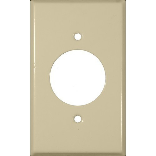 """Morris Products 83453 Painted Steel Wall Plates 1 Gang Single Receptacle 1.406"""" Hole Dia. Ivory"""