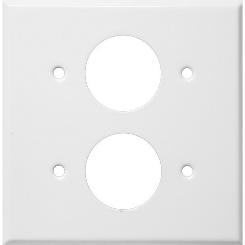 """Morris Products 83512 Painted Steel Wall Plates 2 Gang 2 Single Receptacles 1.406"""" Hole Dia. White"""