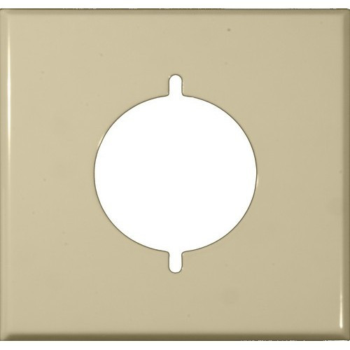 Morris Products 83488 Painted Steel Wall Plates 2 Gang Range/Dryer Ivory