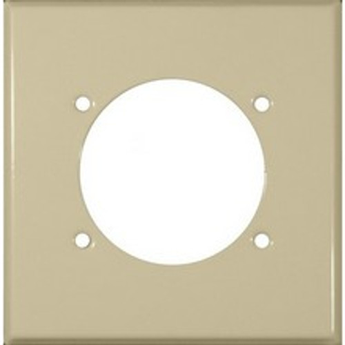 Morris Products 83508 Painted Steel Wall Plates 2 Gang Power Outlet Ivory