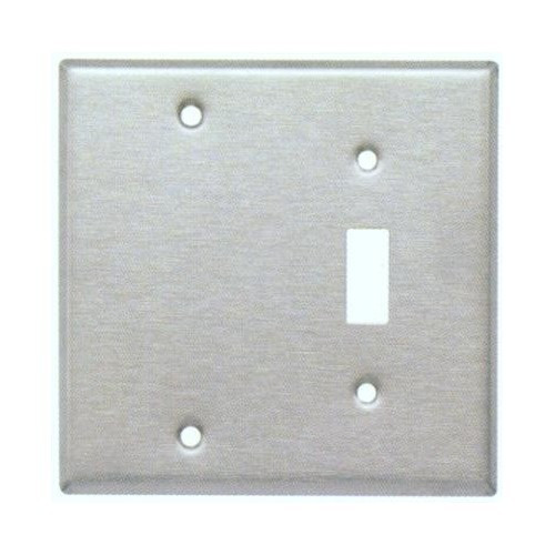 Morris Products 83410 430 Stainless Steel Wall Plates 2 Gang 1 Toggle 1 Blank