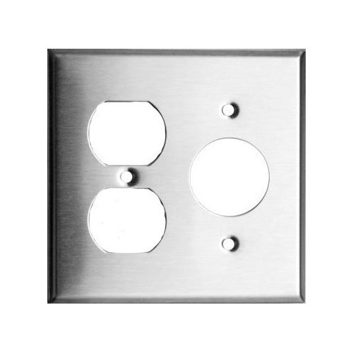 Morris Products 83550 430 Stainless Steel Wall Plates 2 Gang 1 Duplex 1 Single
