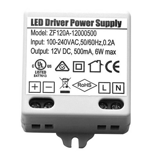 Morris Products 71244 12V LED Undercabinet Lighting Accessories Hard Wire Power Supply 12V .5A  6W