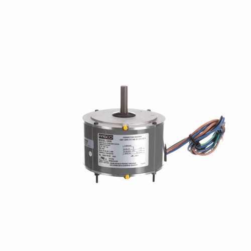 Fasco D895 1/8 HP OEM Replacement Motor 1650 RPM 200/230V 48 Frame Replaces GE 5KCP39BGR426S