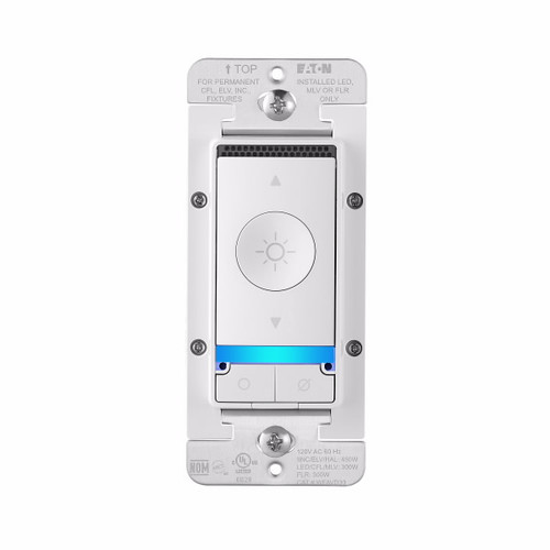 Eaton Wiring Devices WFAVD30-W-BX-L Wi-Fi Smart Voice Dimmer Switch