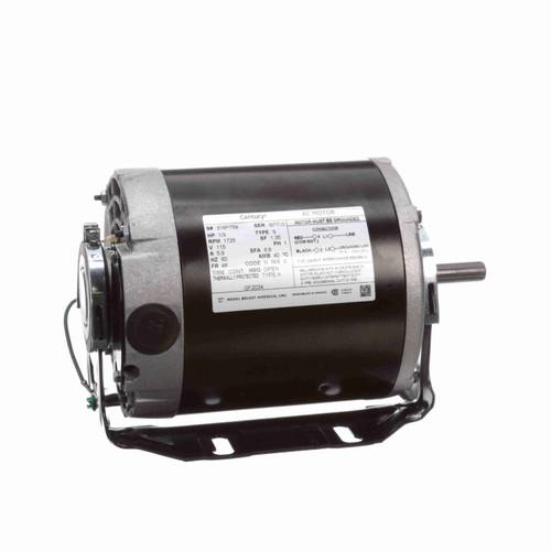 Century GF2034 1/3 HP Belt Drive Blower Motor 1800 RPM 115 V 48/56 Frame