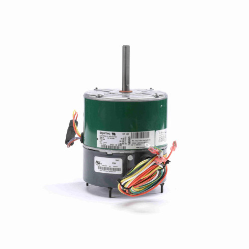 Genteq 6303 EVERGREEN OM 1/3 HP Condenser Fan Motor, 850/1100 RPM, 2 Speed, 208-230 Volts, 48 Frame