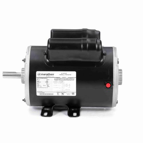 Marathon 9036 3 HP Air Compressor Motor 1 phase 3600 RPM 230V 56 Frame