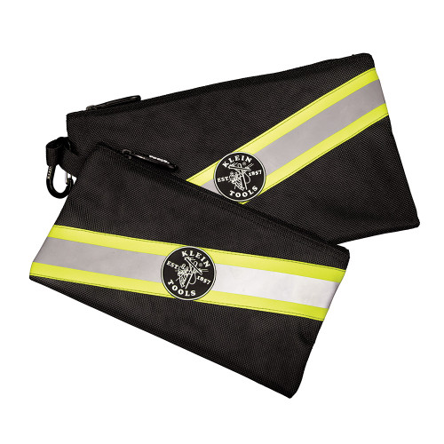 Klein Tools 55599 High Visibility Zipper Bags, 2Pk
