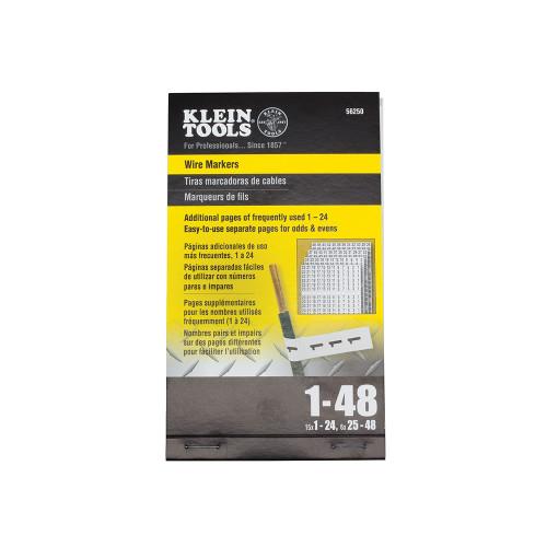 Klein Tools  56250 Wire Marker Book, 1-48