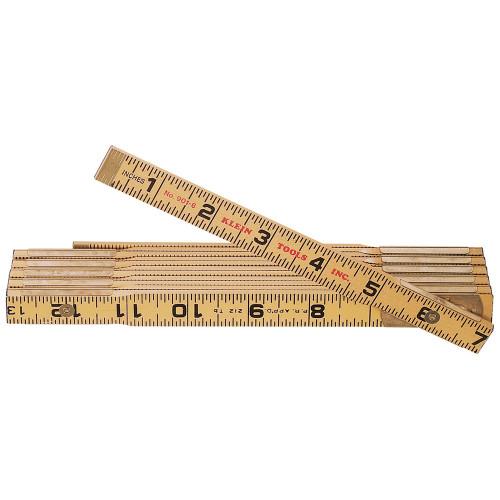 Klein Tools  901-6 Wood Folding Rule, Outside Reading