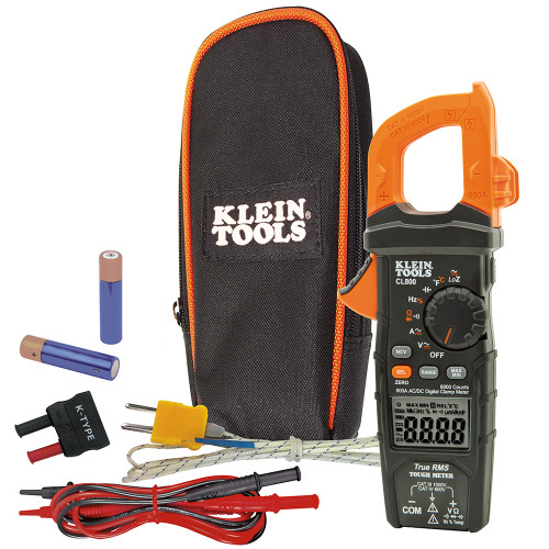 Klein Tools  CL800 Digital Clamp Meter AC/DC Auto-Ranging