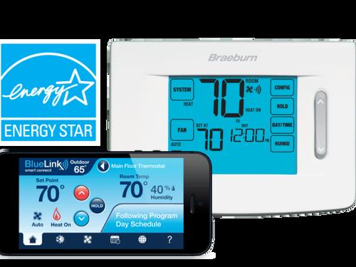 Braeburn 7320 Smart Wi-Fi Universal Touchscreen Thermostat 3 Heat / 2 Cool