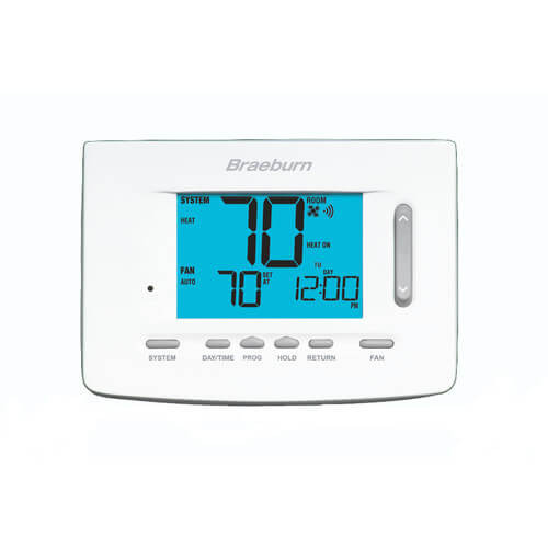 "Braeburn 7305 BlueLink Smart Wi-Fi Universal Programmable Thermostat, 5"" Display (3 Heat/2 Cool)"