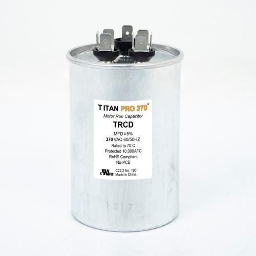 Packard TRCD455 TITAN PRO 45/5 MFD Round Dual Motor Run Capacitor (370V)