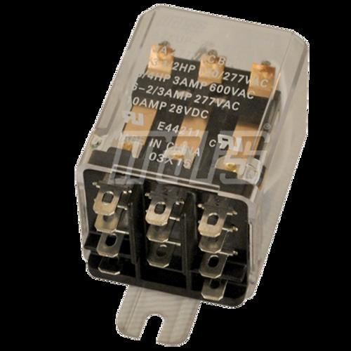 Mars 43063 DPDT 24 Volt Coil Plug Relay