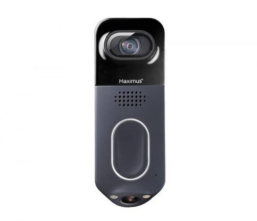 Maximus VD01-05A1W-BK-1 Answer DualCam Video Doorbell with Alarm and Two-Way Talk
