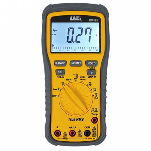 UEI DM525 True RMS 1000V Contemporary Industrial Digital Multimeter w/ Temperature