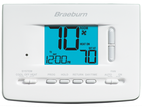 Braeburn 2020 Economy Universal Programmable Thermostat 7 Day 5-2 Day or Non-Programmable 1 Heat / 1 Cool