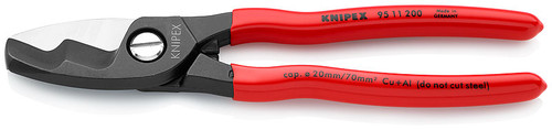 Knipex 95 11 200 8'' Cable Shears w/twin cutting edge