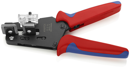Knipex 12 12 14 Precision Insulation Stripper with shaped blades Suitable for 16 to 26 AWG