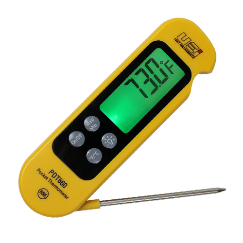 UEI PDT660 Folding Pocket Thermometer W/ Side Out Probe
