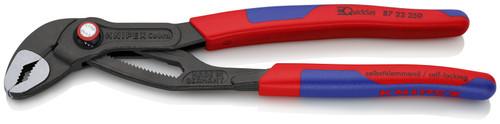 Knipex 87 22 250 10'' Cobra QuickSet High-Tech Water Pump Pliers-Comfort Grip