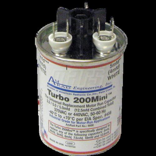 Mars 12100 TURBO 200 MINI 2.5/5/7.5 MFD Universal Run Capacitor
