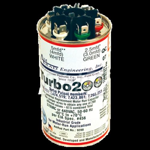 Mars 12200 TURBO 200 2.5/5/5/10/20/25 MFD Universal Round Run Capacitor