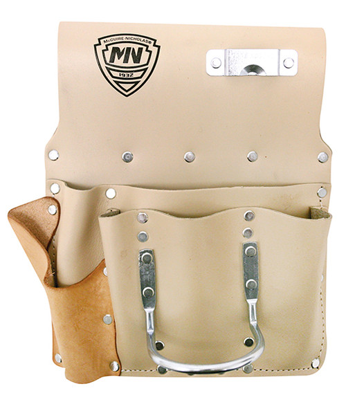 McGuire Nicholas 485  Saddle Leather 8 Pocket Drywall Hanger's Pouch