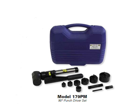 "Current Tools 179PM 1/2"" to 2"" 90° Hydraulic Punch Driver Set"