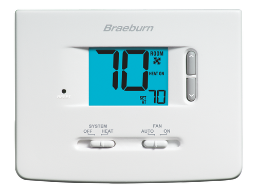Braeburn 1025NC Builder Non-Programmable Thermostat Heat Only