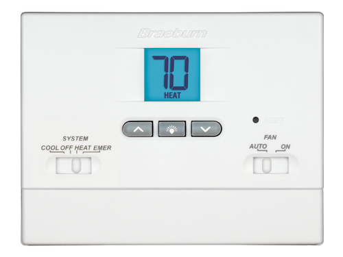 Braeburn 1200NC Builder Non-Programmable Thermostat 2 Heat / 1 Cool