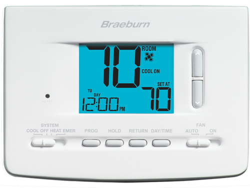 Braeburn 2220 Economy Universal Programmable Thermostat 7 Day 5-2 Day or Non-Programmable 2 Heat / 2 Cool