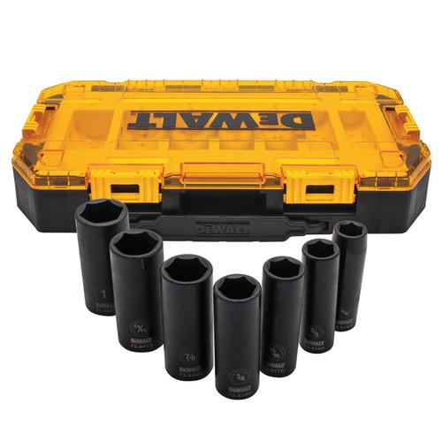 DeWALT DWMT74736  7 Piece 1/2 in Drive Deep Impact Socket Set