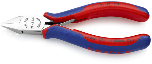 Knipex 77 42 130 5.25'' Electronics Diagonal Cutters-Comfort Grip