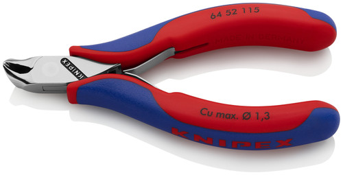 Knipex 64 52 115 4.5'' Electronics End Cutters-Comfort Grip