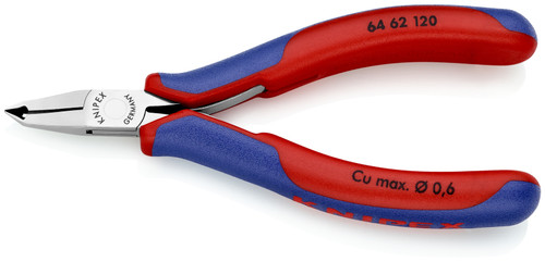 Knipex 64 62 120 4.75'' Electronics End Cutters-Comfort Grip