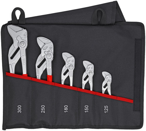 Knipex 00 19 55 S4 5 Pc Pliers Wrench Set (86 03 125, 86 03 150, 86 03 180, 86 03 250, 86 03 300)