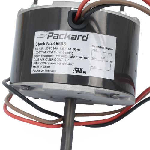 Packard 45598 1/5 HP 1075 RPM 208-230V PSC Motor Replaces ICP 1064945